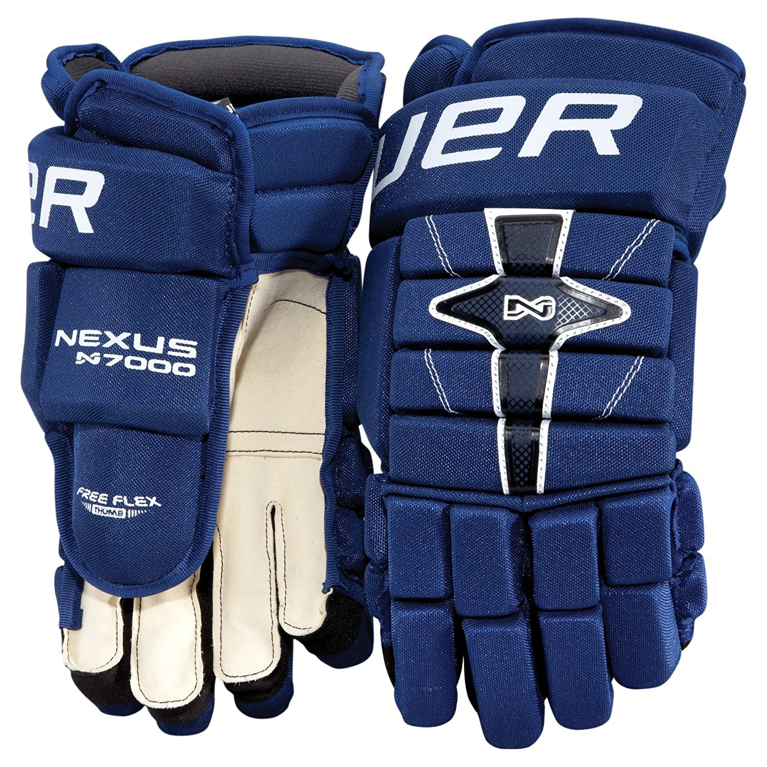 5550a23e0d4 Get Quotations · Bauer Nexus N7000 Hockey Gloves - Junior - 10 Inch - Black