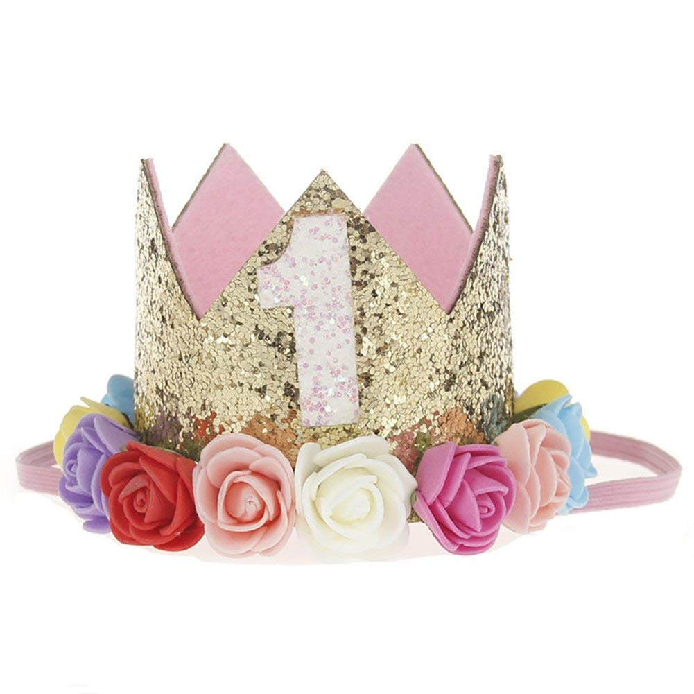 3a0fde56f71 Get Quotations · SHZONS Baby Birthday Crown