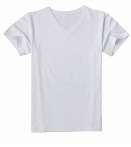 Cotton men's and women's v collar man blank cotton t-shirt