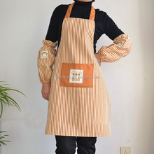 Eco-friendly and 100% recycle Cotton Fabric cooking apron Promotional cotton kitchen apron set With Logo, kitchen