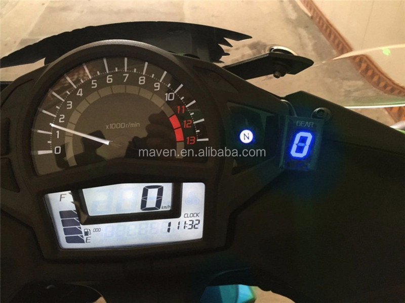 1 6 Speed Led Digital Motorcycle Gear Indicator For Kawasaki Versys
