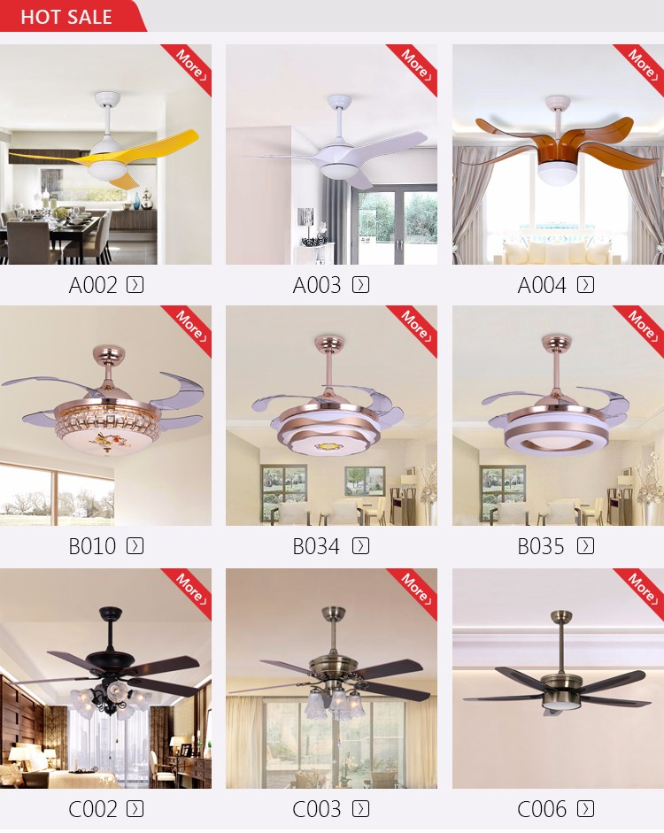 "Modern American Style Restaurant 3 Leaves 52""Remote Control White Ceiling Fan with 12W Light"