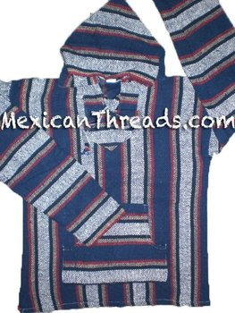 Mexican Baja Hoodie Ponchos Pullover Sweater Jacket Drug Rugs
