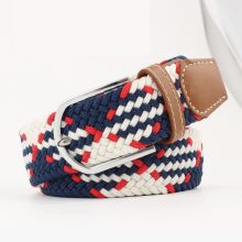 New mix color design cotton braided stretch for jeans fashion weave elastic woman belt