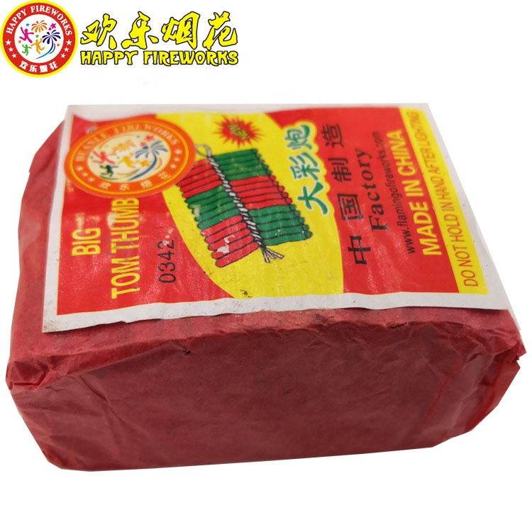 Hot Sale wholesale 0342B big tom thumbs 30S crackers red colored chinese  firecrackers factory pyro fireworks