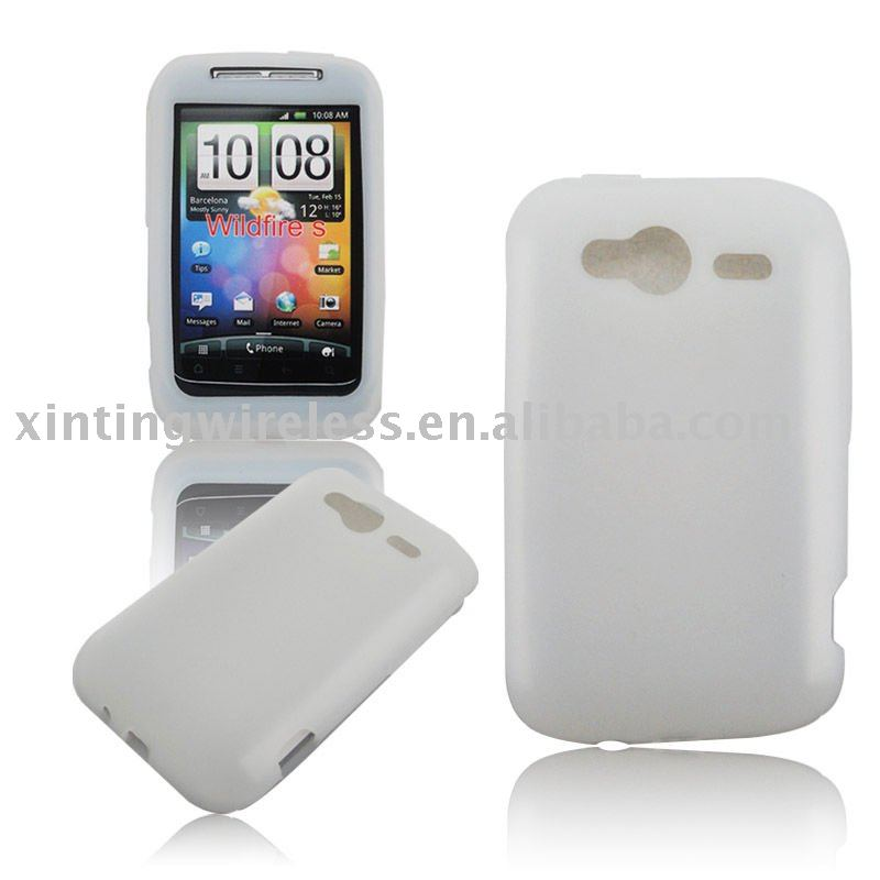 New White Silicone Case Cover Skin For HTC Wilfire S