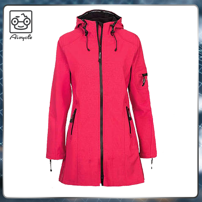 Winter windbreaker women long jackets coats with hoods