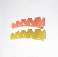2015 Fashion women hair accessories creative cut plant plastic alligator bean sprout hair clip