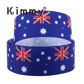 25mm 1 inch World Flags Grosgrain Ribbon Craft Bow Decoration Metre Yard Flags Country