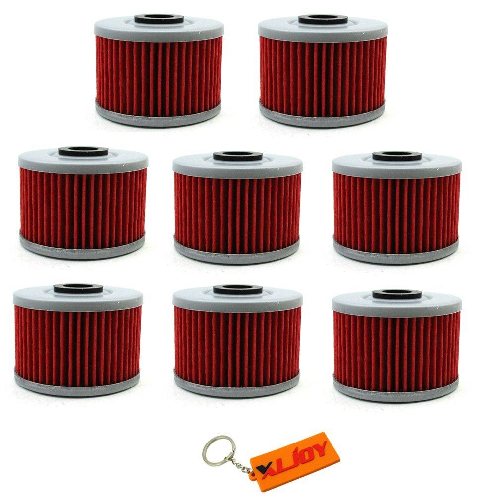 XLJOY 8pcs Oil Filter for Honda XL250 NX250 XR250R XR250L XR650L Kawasaki KLX300R KLX250