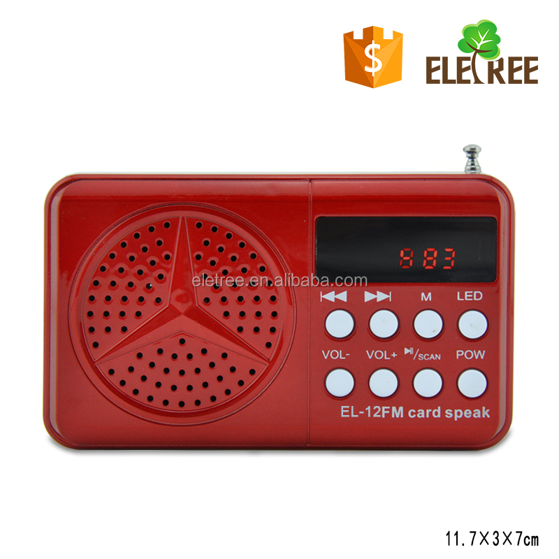 2016 the product sell like hot cakes Hot-Sale FM Radio With USB/SD,MP3 Player EL-12 tri band mobile radio