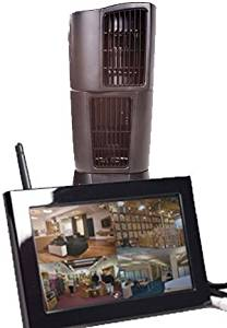 EyeSpySupply Wireless Covert Oscillating Fan With LCD Monitor and Remote View