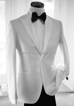 2017 Custom Made Mens Suits Formal Dress Men Suit Set White Wedding Groom