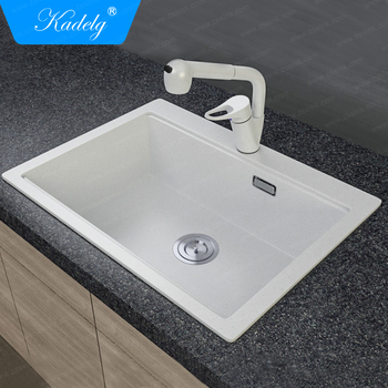 Cleaning Resin Sinks Food Grade Kitchen Quartz Stone Sink With Acrylic