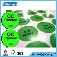 QC passed quality control paper label