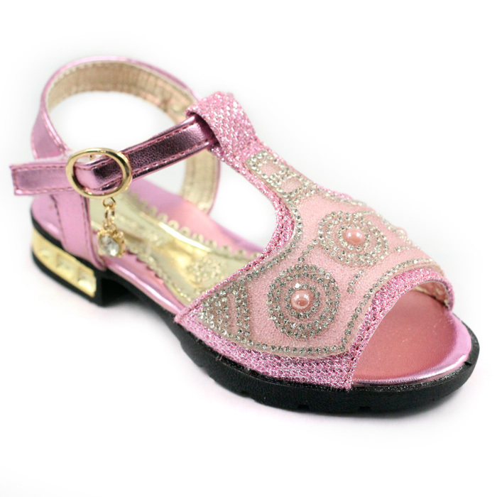 New Arrivel Kids Sandals Girls Rhinestone Girls Summer Shoes 2015 Children Shoes Girls Sandale Fille Pink Red Sandalias