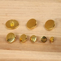 custom flat surface round shank abs plating shiny gold button for coat