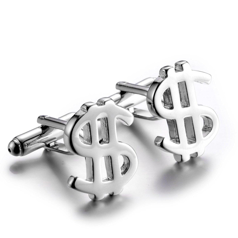 Get Quotations U2U Jewelry Stainless Steel Bullet Back Cufflinks US Dollars For Men WeddingsBirthday Gifts