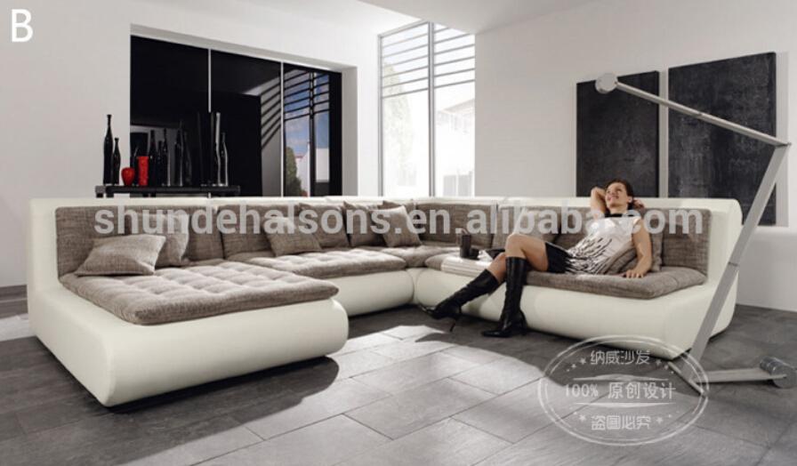 moderno en forma de u sof seccional sof de cuero tela conjunto nuevos diseos sof
