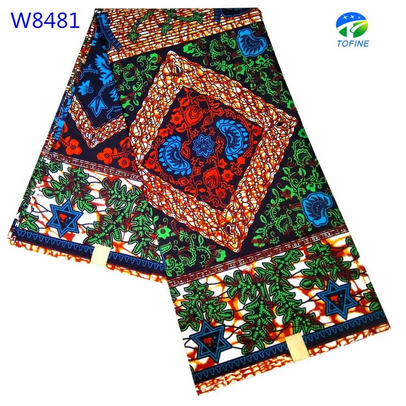Good quality nigeria holland wax java print fabrics 6yards for making wedding