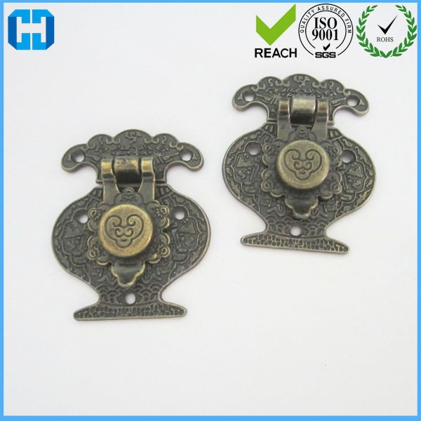 62*51 MM Bronze Metal Wooden Box Lock Latch Hasp For Gift Box