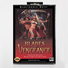 Blades of Vengeance Game Cartridge 16 bit MD Game Card With Retail Box For Sega Mega Drive For Genesis