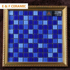 15x15mm 20x20mm 30x30 ice crack swimming pool mosaic 4mm 6mm 8mm thickness blue swimming pool glass crystal mosaic tile
