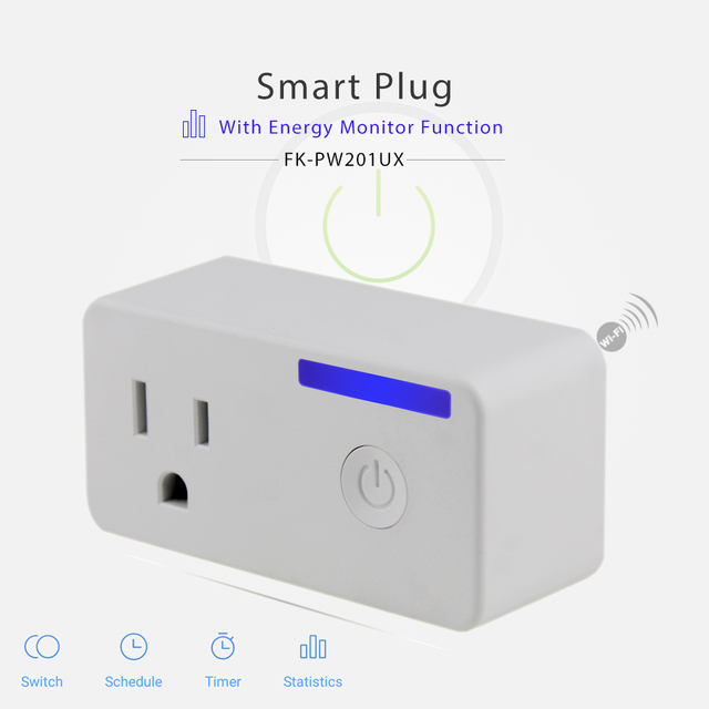 Frankever Energy Monitor Function US standard CE FCC APP WIFI plug