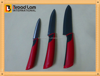 New 3pcs Black Color Ceramic Art Knife Set with Carving Design, Kitchen Knife set with printing on blade 4
