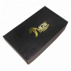 Custom gold logo printing Wholesale price paper shipping cartons corrugated carton box