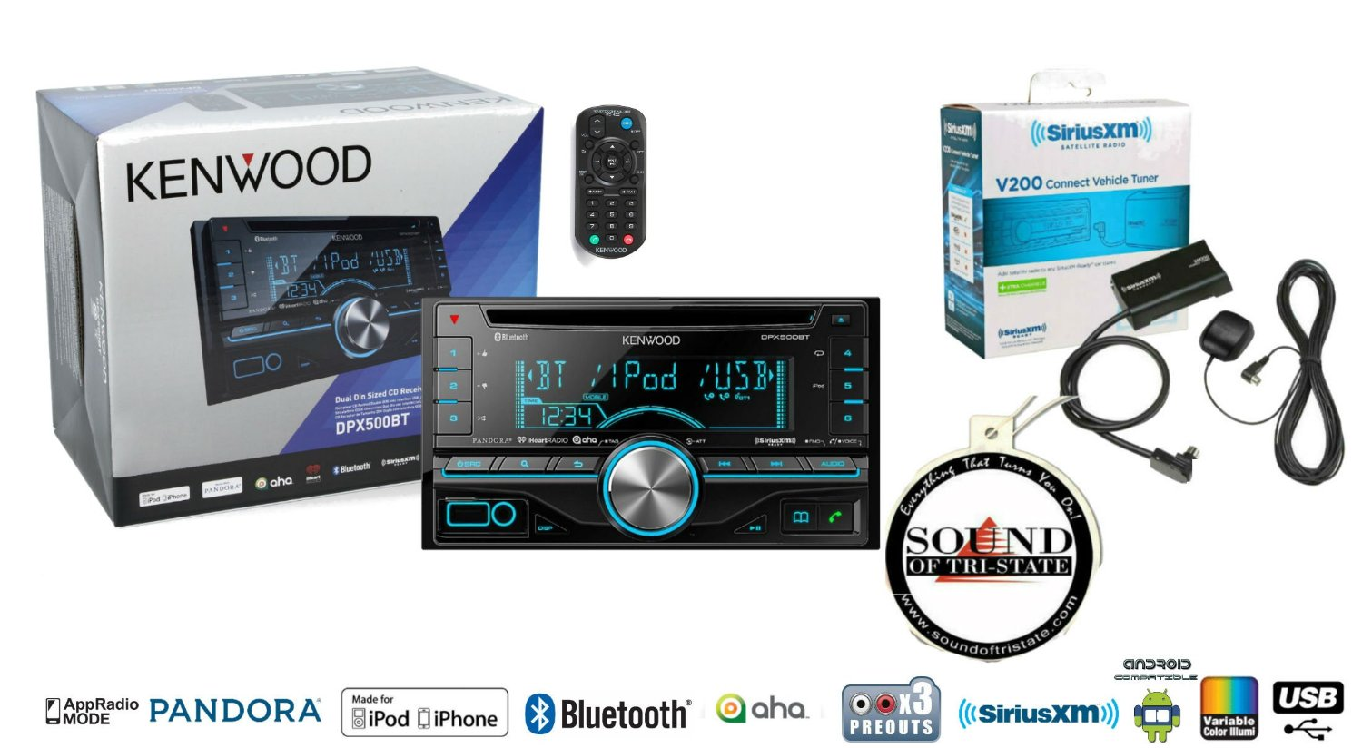 Buy Kenwood DPX500BT in Dash Double Din CD Receiver with