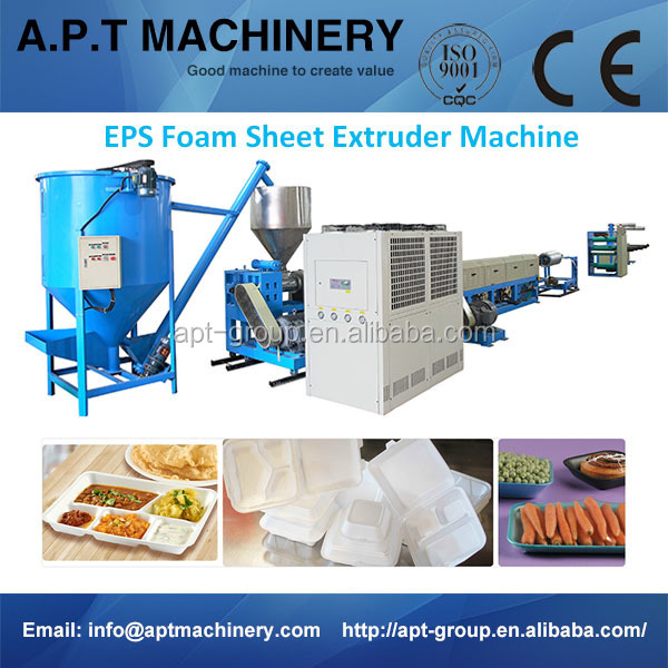 AdvanCEd ProCEssing Safe Design EPS Foam Sheet Extruder For Lunch Box/Plate PSP-65/90