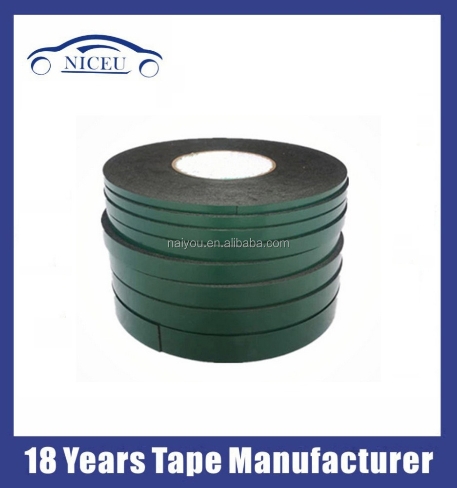 1mm thick black die cut rubber adhesive backed round foam tape
