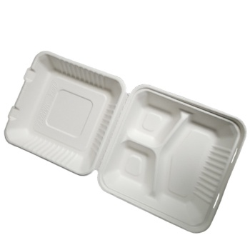 100% Biodegradable & Compostable  Bagasse clamshell