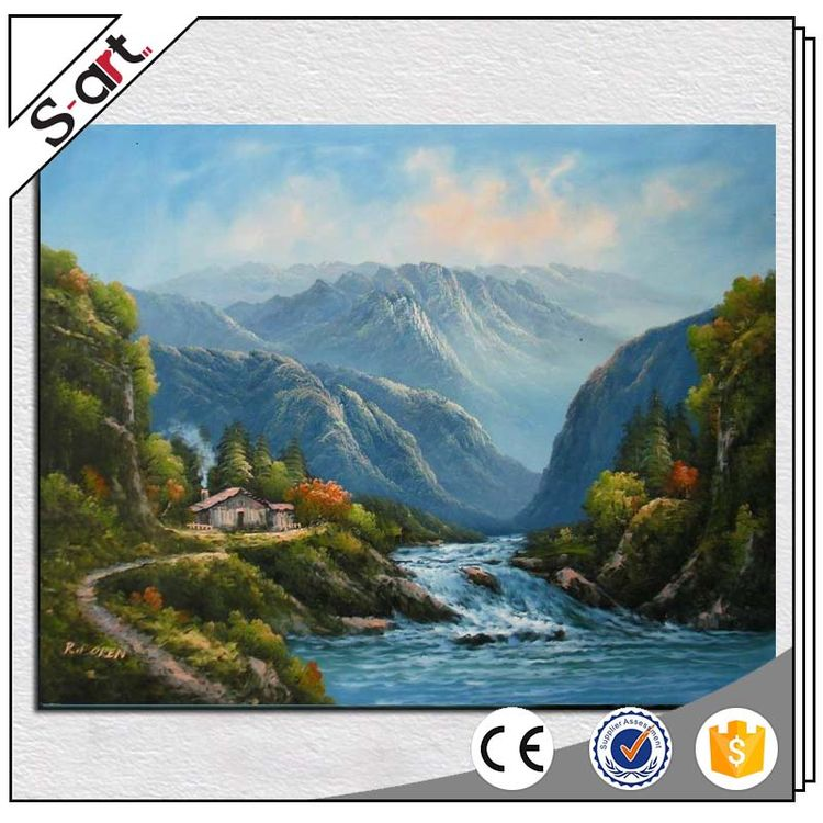 High quality durable mountain rivers abstract scenery oil paintings