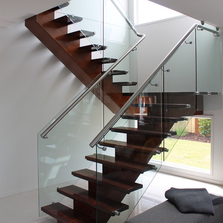 Nuovo design in vetro trasparente corrimano per scale per - Corrimano in vetro per scale ...