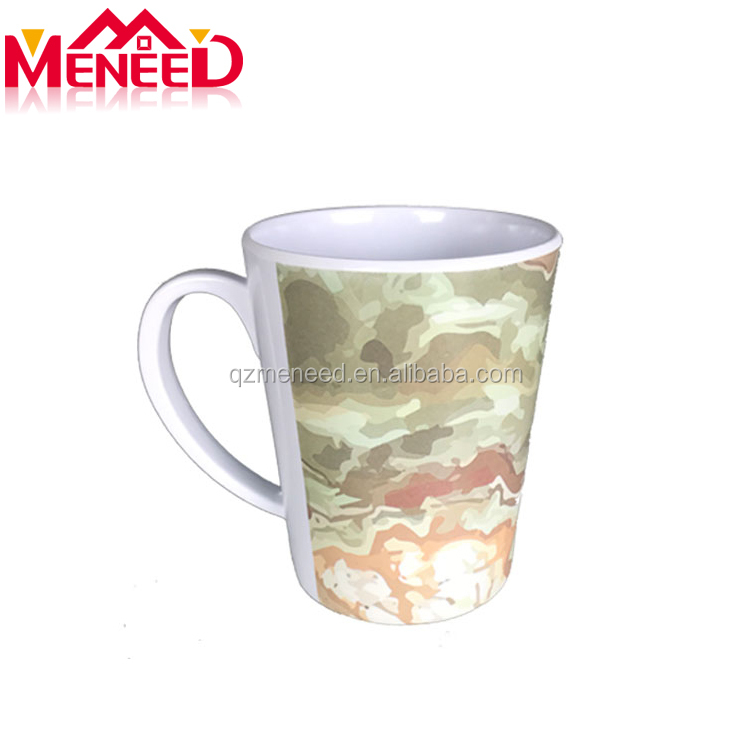 Custom design full print canteen use food grade 350ml melamine coffee cup