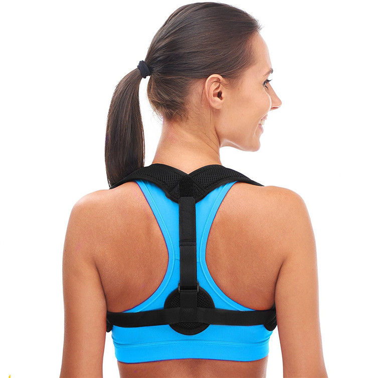 2019 amazon front adjust health & medical back brace posture corrector, Black or as your request