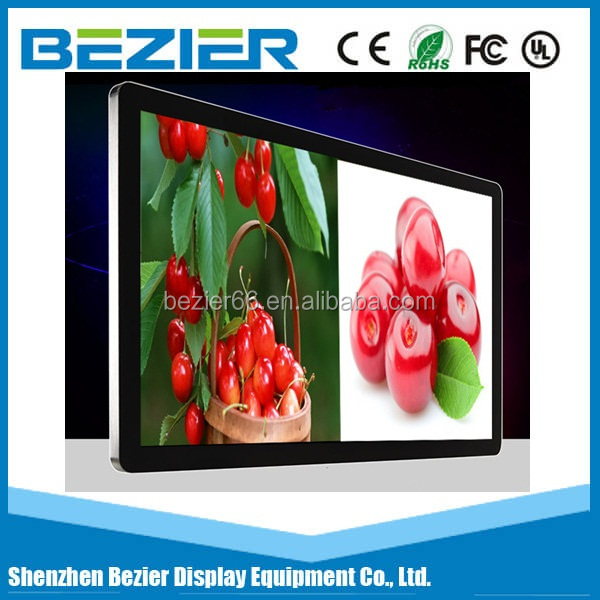 BEZIER 70 inch High Precision lcd advertising kiosk wall mounting Android monitor