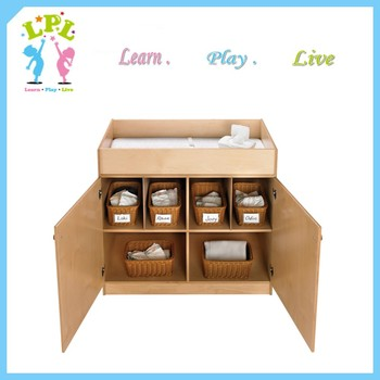 eco friendly plywood diaper change cabinet with doors nursery furniture changing table - Diaper Changing Table
