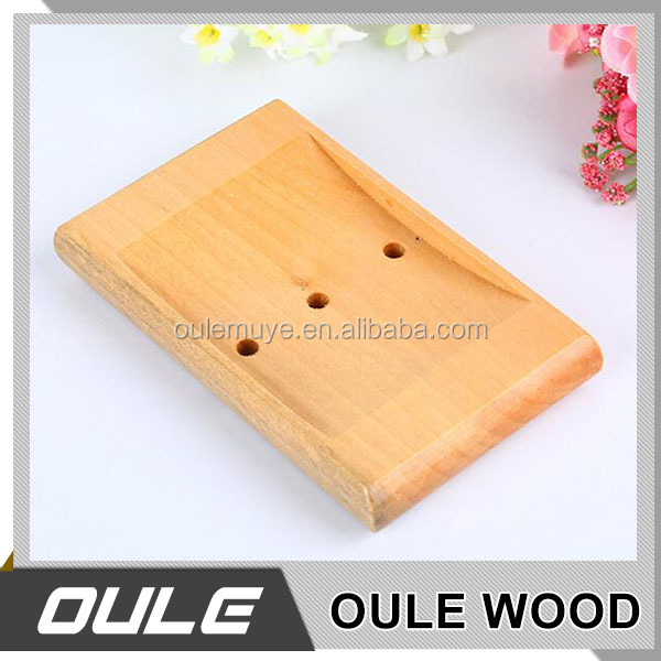 Cheap wood soap holder / soap dishes / leaking wood soap case