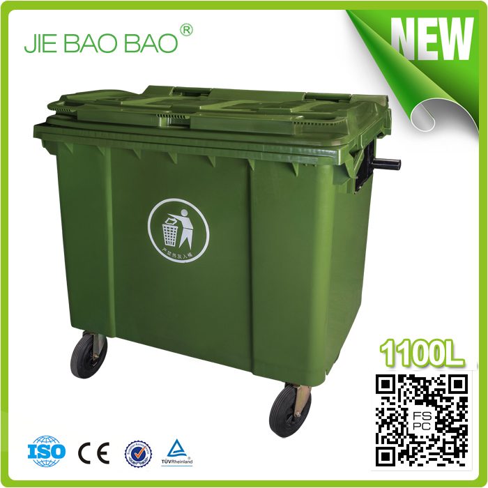 Wholesale large size waste container 1100 ltr environment friendly ...