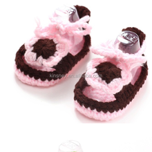 KS40012S Modern design handmade crochet knitting toddler baby shoes
