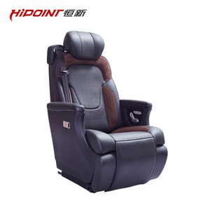 luxury business car seat with electric footrest for van