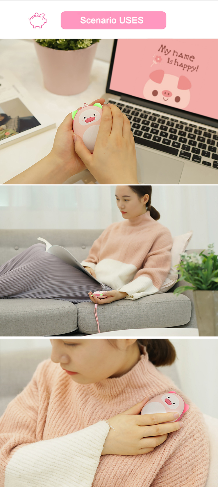 Lovely Design Wholesale Rechargeable USB Powerbank Pocket Hand Warmer Korea