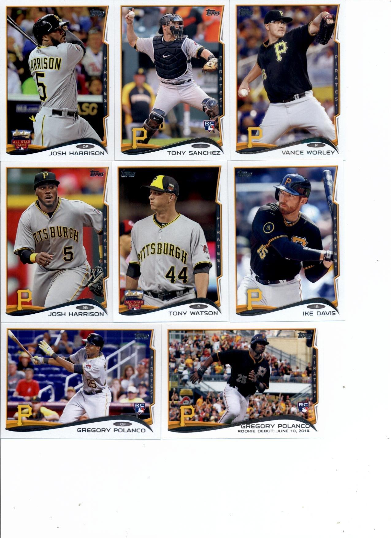 2014 Topps Update Baseball Card Team Set - Pittsburgh Pirates : Including Andrew McCutchen , (2) Gregory Polanco , Clint Barmes , Brandon Cumpton , Ike Davis , (2) Josh Harrison , Tony Sanchez , (2) Tony Watson , Vance Worley , , ,
