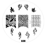 2015 new A Series A38 Nail Art Polish DIY Stamping Plates Image Templates Nail Stamp Stencil