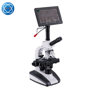 C104 -HD7 Portable USB LCD Screen Dual Head Digital Biological Microscope with Camera