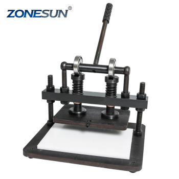 ZONESUN 2616cm DIY handbag Manual leather cutting machine photo paper PVC/EVA sheet mold cutter leather Die cutting tool Craft