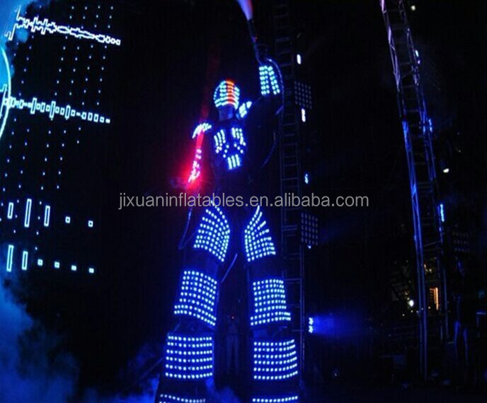 china party led costume led robot clothing led tron costume